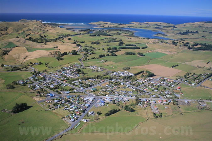 Owaka,aerial,The Catlins,South Otago,Clutha District